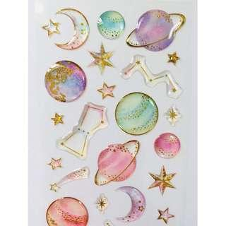 [PO] stars crystal sticker