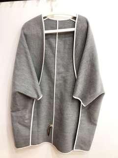超新灰色外套熬造型薄款百搭