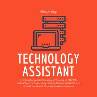 Technology Assistant up to $2100