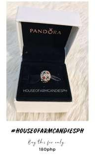 """Pandora Disney """"Inspired"""" Abstract Pave Silver Charm"""
