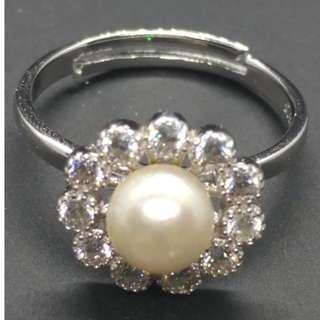 Freshwater Pearl Floret Ring
