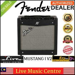 "Fender Mustang I V2 1X8"" Modeling Electric Guitar Combo Amplifier With Effect Black"