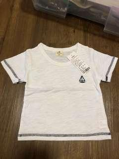 Brand new white tee for boy