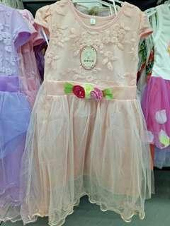 Girl Flower Lace Dinner Dress
