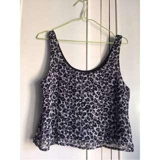 F21 Animal Print Semi Croptop