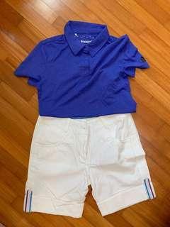 Ladies Nike Golf shorts & Adidas Top