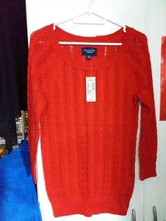 American eagle outfitters Lady red 紅針織衫