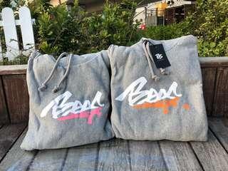 Bees grey hoodies(pink and orange)