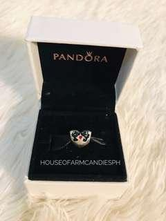 Pandora Mickey and Minnie Mouse Heart Silver Charm
