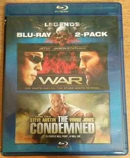 Blu ray double feature: War / The condemned.