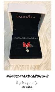 Pandora Minnie Mouse Red Bow Charm