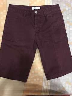 Topman Celana pendek maroon