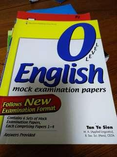 🚚 O level english mock paper assessment book