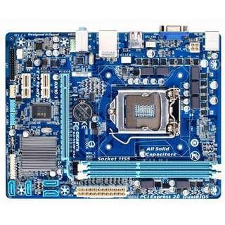 🚚 技嘉GA-H61M-DS2 (rev. 2.2) Socket 1155 主機板、支援二代、三代處理器、拆機良品附檔板