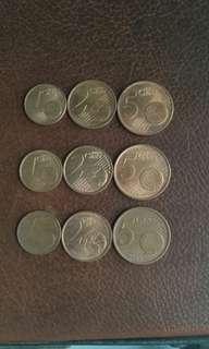 Euro set coins