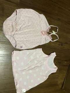 Baby girl romper and top