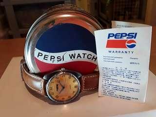 Pepsi 百事可樂 石英手錶 ,古銅錶殼 ,原裝帶 ,買了未帶過, 保存欠佳, 謝絕完美主義