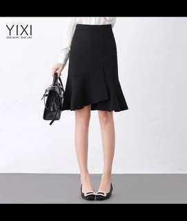 🚚 Asymmetrical Hem Skirt #1212