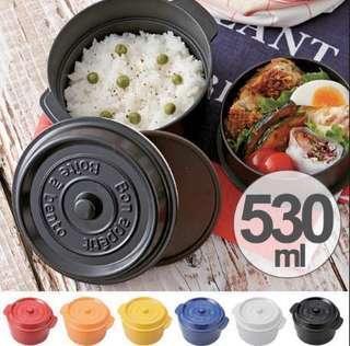 日本直送 cocopot 2層飯盒 530ml 6色