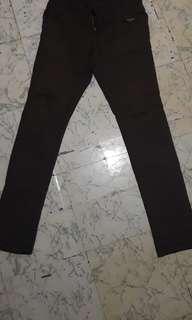 Jeans volcom coklat straight size 30
