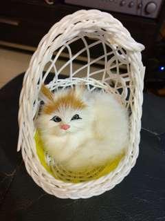 可愛小貓擺設 13 x 10 x 10 cm soft cute cat ornament