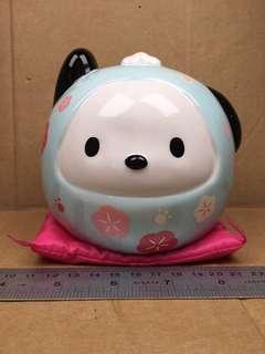 Sanrio Pochacco PC 狗 Daruma 達摩陶瓷錢罌 256081
