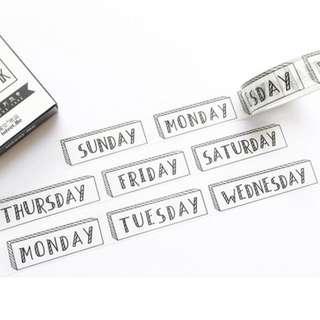[PO] the week washi tape