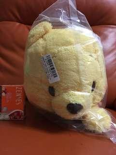 全新 日本景品直送 Disney Winnie the Pooh 小熊維尼 聖誕帽 大公仔一隻