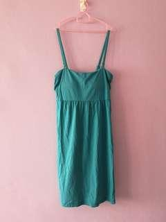 Uniqlo Teal turquoise padded dress
