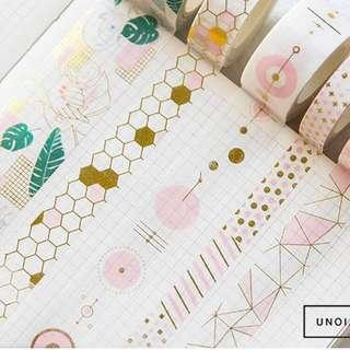 🚚 [PO] pink gold foil washi tape
