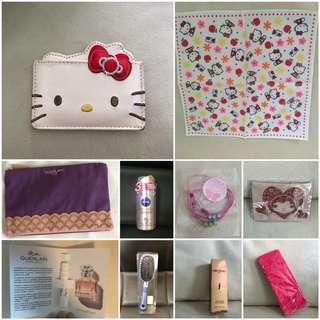 美容系列 Guerlain香水 Pony effect指甲油 Nivea指汗劑 Hello Kitty鏡及手巾