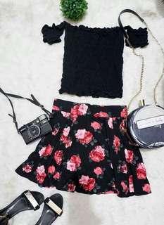 Forever 21 Roses Skirt