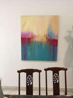 Abstract Oil Painting 4 feet