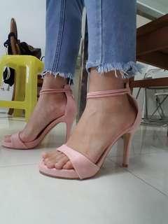 ASOS Glamorous Pastel Pink Heels Stilettos