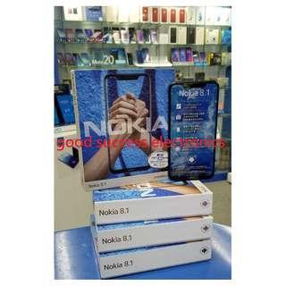 Nokia 8.1 (4 + 64GB) 6.18吋 全新香港行貨 原廠一年保養 🎈( 照價再減 . 歡迎查詢現金優惠價 )