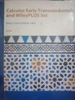 Calculus Early Transcendentals and WileyPLUS Set by Anton 10th Edition