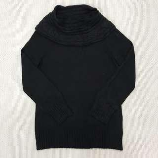 Black Knitted Sweatshirt