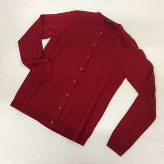 Brand new Theory red 100% wool cardigan