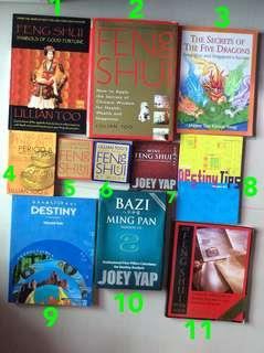 Fengshui 风水 Books / Literature / Non-Friction / Friction Books and Software App CD-Rom Clearance Sale