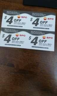 #Blessing. SPC petrol vouchers for Dec. $4 off for every $60. $16 worth. (Upper Thomson branch only) Exchange for 2 boxes of tissue will do. Thanks.