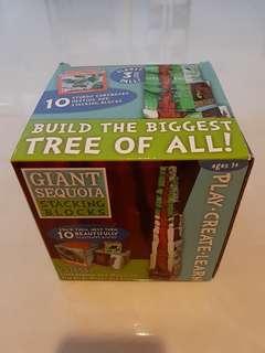 Giant sequoia stacking blocks