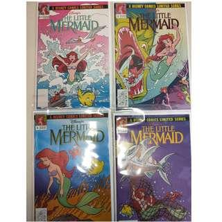 Disney's The Little Mermaid #1-4 Limited Series Prequel NM and Rare