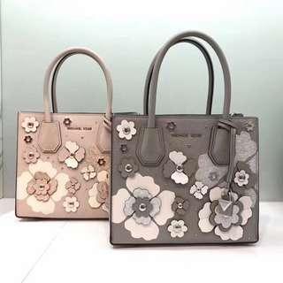 Micheal Kors Mercer Floral Embellished Leather