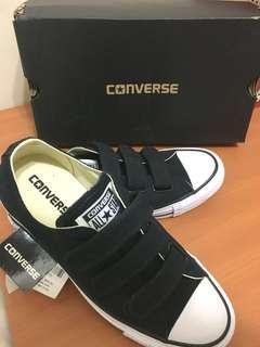 Converse 魔鬼氈休閒鞋 黑24cm (不換物)