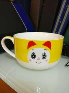 叮噹 多啦a夢叮鈴 5时有柄大碗 doraemon 5 inch bowl