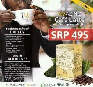 Alkaline Barley Coffee CAFE LATTE By IAM Worldwide Corp