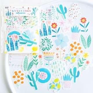 Beautiful Life Plants Deco Stickers Pack