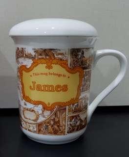 Personalised Mug with Lid - James