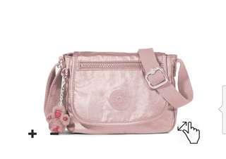Kipling Sabian RoseGold Crossbody Sling Bag