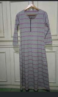 Long dress stipe